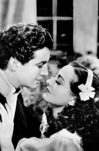 "RT and Joan Crawford in ""The Gorgeous Hussy."" 1936"
