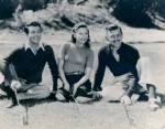 Taylor, Stanwyck & Gable golfing--probably taken by Carole Lombard.
