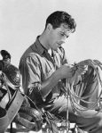 Actor Robert Taylor with His Riding Saddle and Rope in Hand