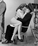 Stanwyck overwhelms Taylor during World War II.
