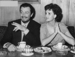 Robert Taylor and Ursula Thiess at Table