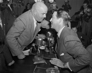 J. Parnell Thomas and Robert Taylor, Oct. 22, 1947
