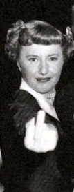 Ms. Stanwyck expresses displeasure.