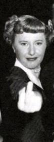 Ms. Stanwyck expresses displeasure.