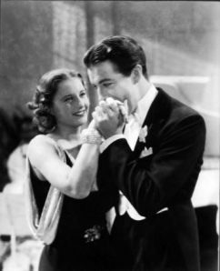 "Robert Taylor and Barbara Stanwyck in ""His Brother's Wife,"" 1936."
