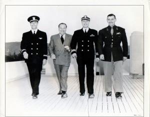Robert Taylor, Eddie Mannix, Robert Montgomery,  Clark Gable during 1944-45