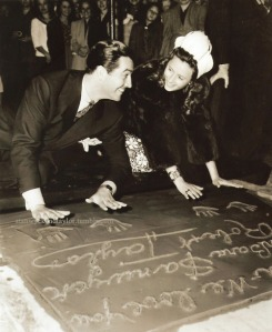 Togetherness at Grauman's Chinese Theater, June 1941.