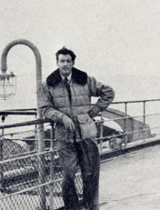 1947, aboard ship.