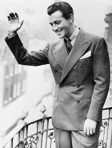 Robert Taylor Waving From Rooftop