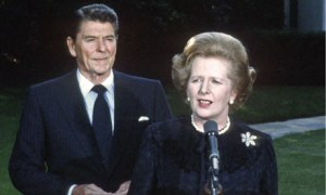Many American politicians have saluted Margaret Thatcher's relationship with Ronald Reagan