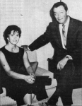 Taylor and his second wife Ursula Thiess Taylor show at Doane College on October 25, 1963.