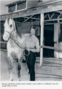Ms. Cantarini with Robert Taylor's horse Tommy.