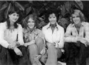 a mid-seventies shotof Bob's family: Manuela, Tessa, Ursula and Terry; courtesy of Terry Taylor
