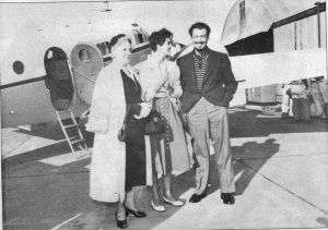 Beatrice Nebraska airport in front of his Beechcraft plane.(Gage County Historical Society)