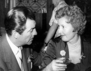 Robert Taylor and Barbara Stanwyck at the Women's Press Club Silver Anniversary October 1954