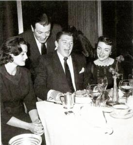 Celebrating Ronald Reagan's birthday together.