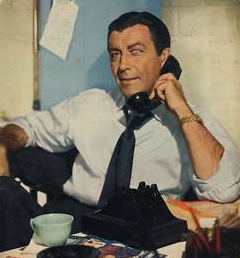 As tough detective in his ABC series, Robert Taylor began last year on TV.