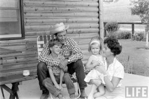 The Taylor Family in Wyoming, 1961.